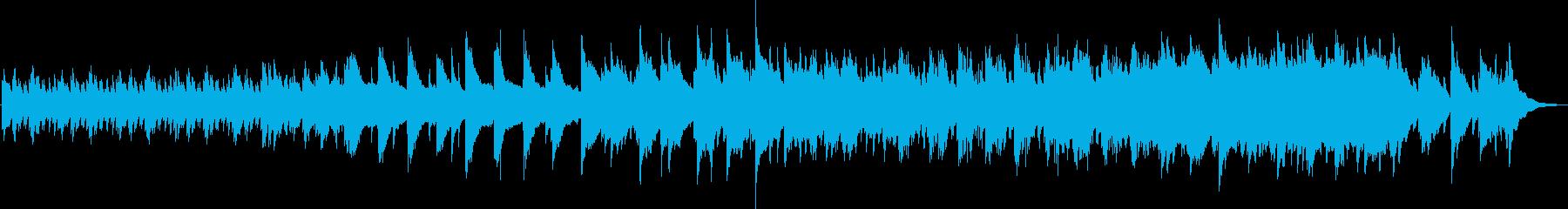 科学的、近未来的で暖かいPV向けBGMの再生済みの波形
