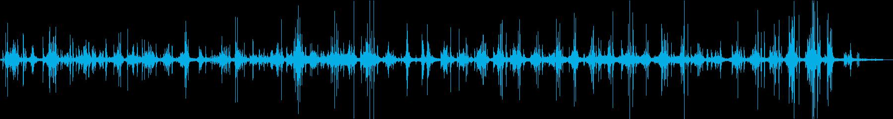 【生録音】雪の上を走る音の再生済みの波形