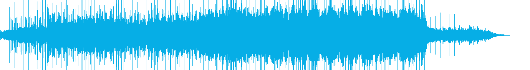 ピアノを空間的に使った打ち込み曲の再生済みの波形