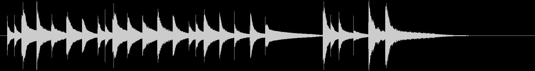 ハッピーバースデーのオルゴール(シンセ)の未再生の波形