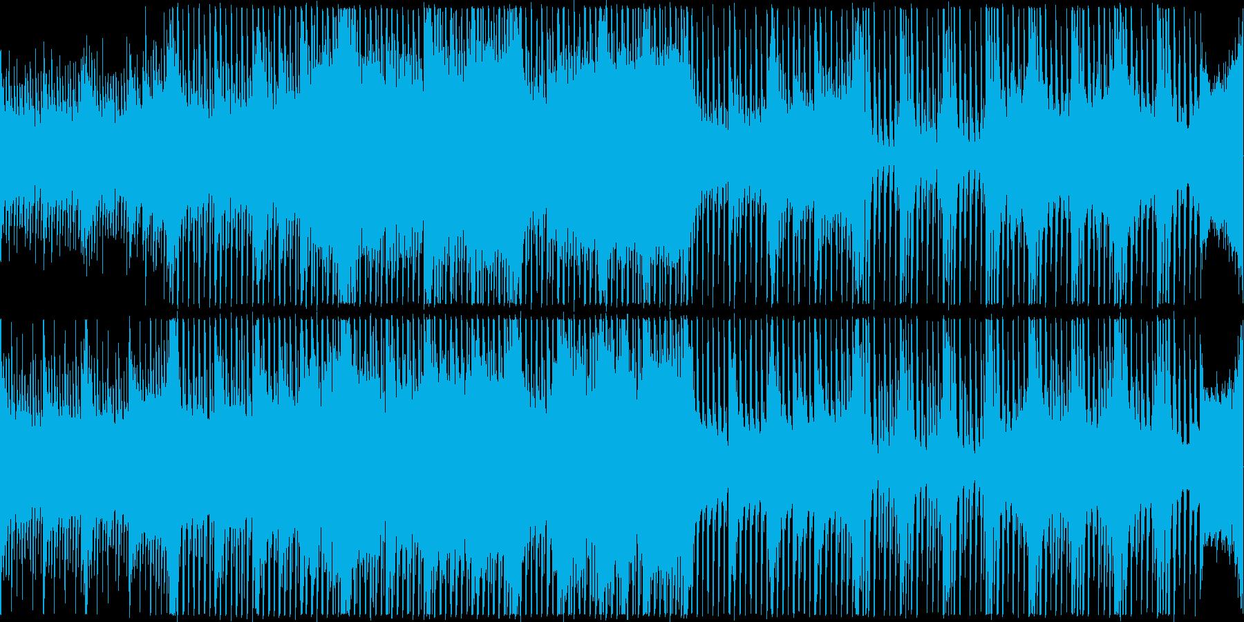 テンポの良いハッピーな曲の再生済みの波形