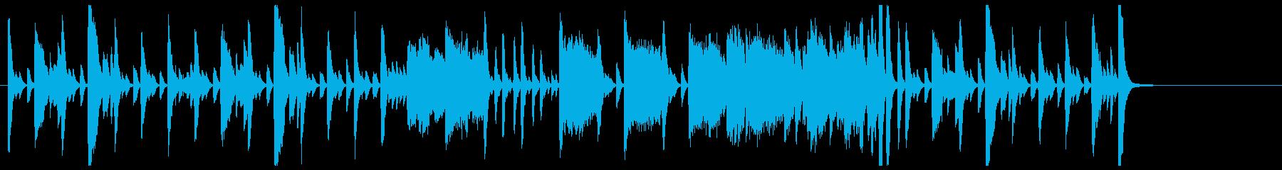 ニュース番組のオープニング風のピアノソロの再生済みの波形