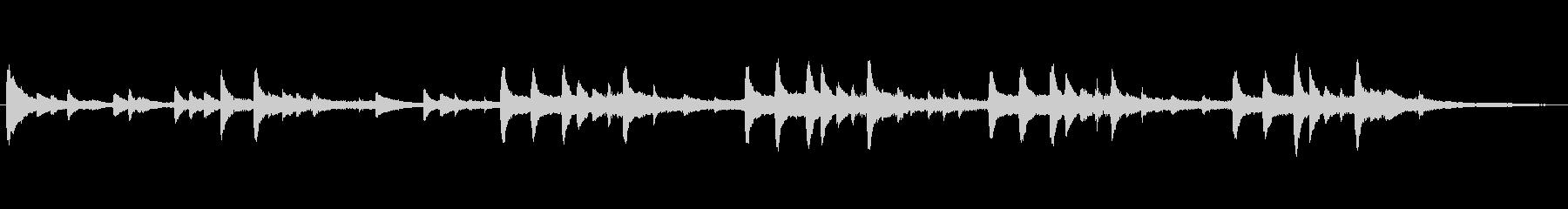 「ピアノと鉄琴の優しいバラード」の未再生の波形