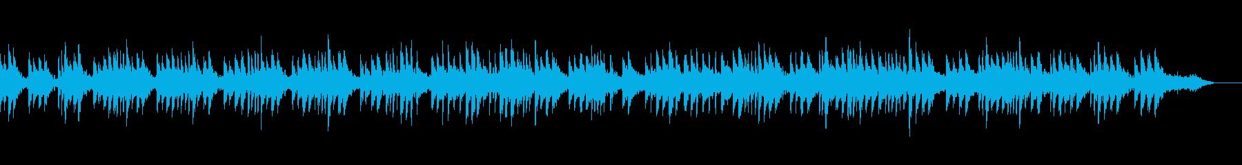 ハープを使ったとても寂しい曲の再生済みの波形