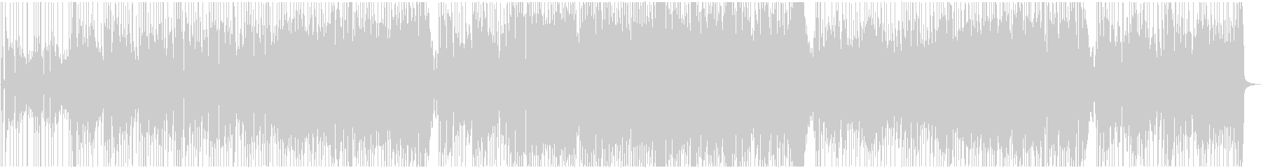 歩く速度のオルガン・ファンクの未再生の波形