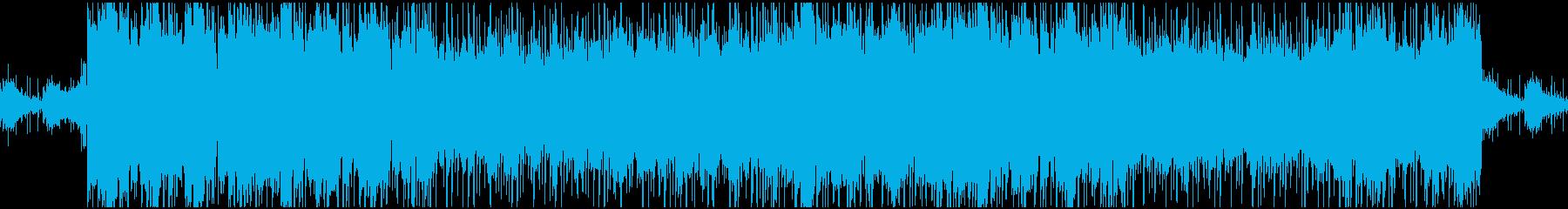 悲壮感、勇壮さのあるループBGMの再生済みの波形