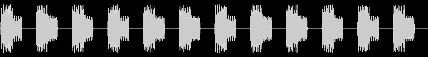 電子ブザースペースアラームの未再生の波形