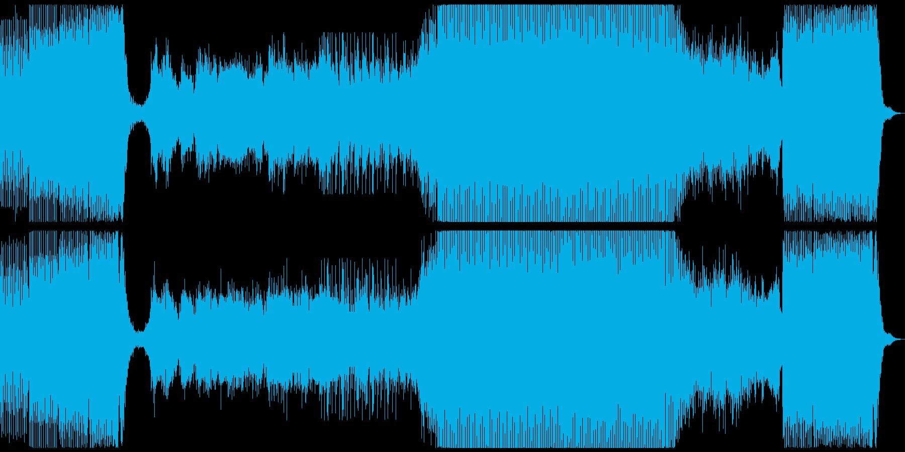 夢に向かって進むを表現した曲の再生済みの波形