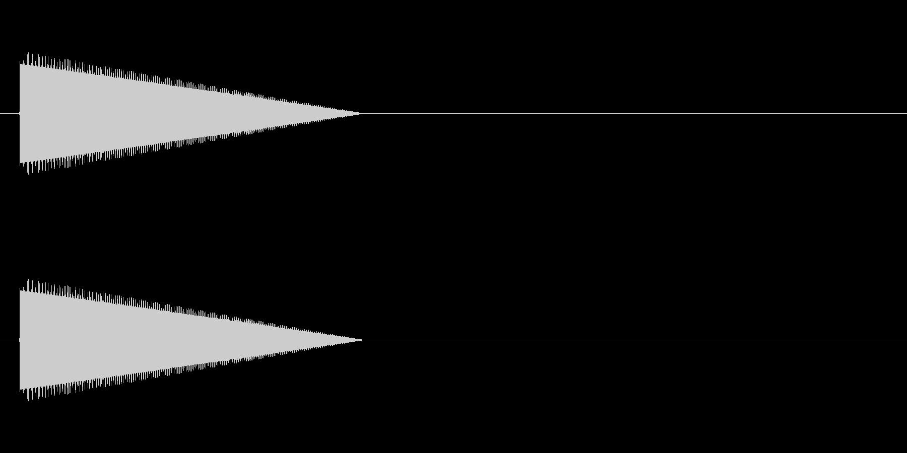レトロゲーム風・ジャンプの未再生の波形