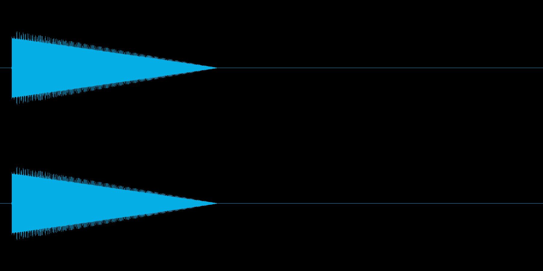 レトロゲーム風・ジャンプの再生済みの波形