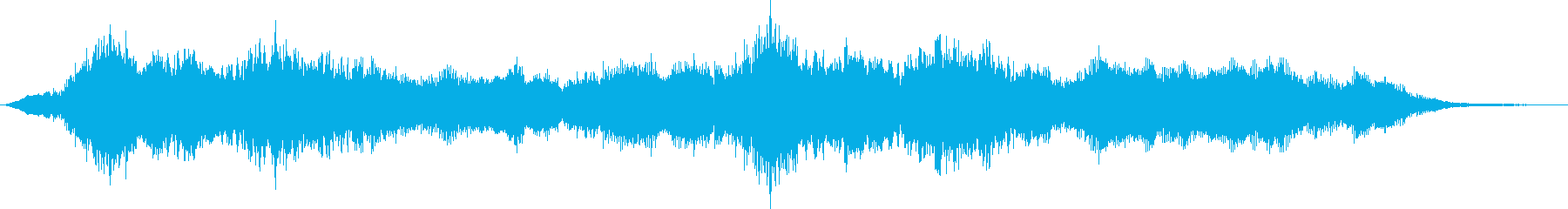 Gentle and majestic female vocal sound's reproduced waveform