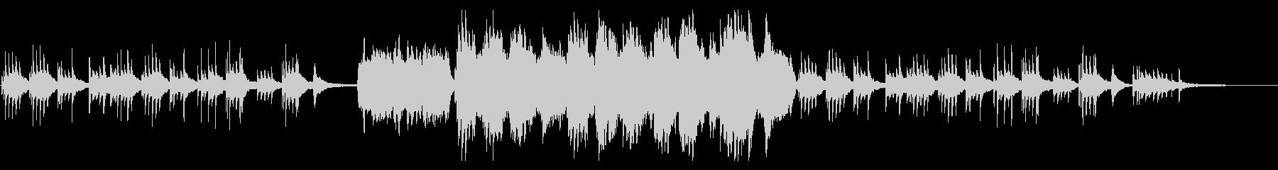 クリスマス感のあるピアノメインのバラードの未再生の波形
