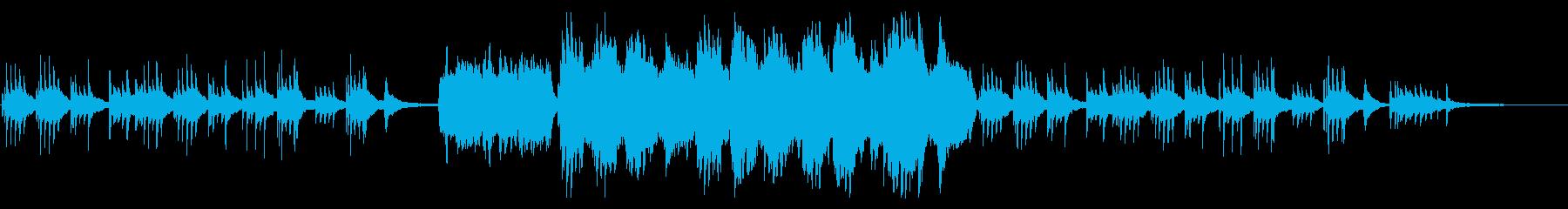 クリスマス感のあるピアノメインのバラードの再生済みの波形