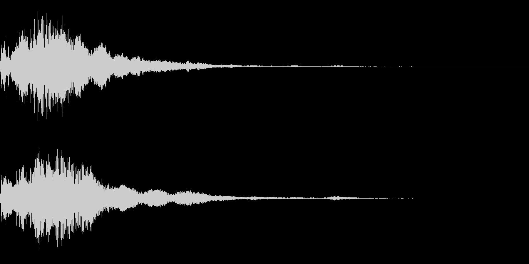 キランとした効果音の未再生の波形