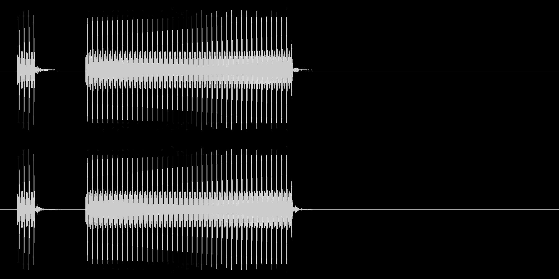 クイズ不正解音2/はずれ/ブッブーッの未再生の波形
