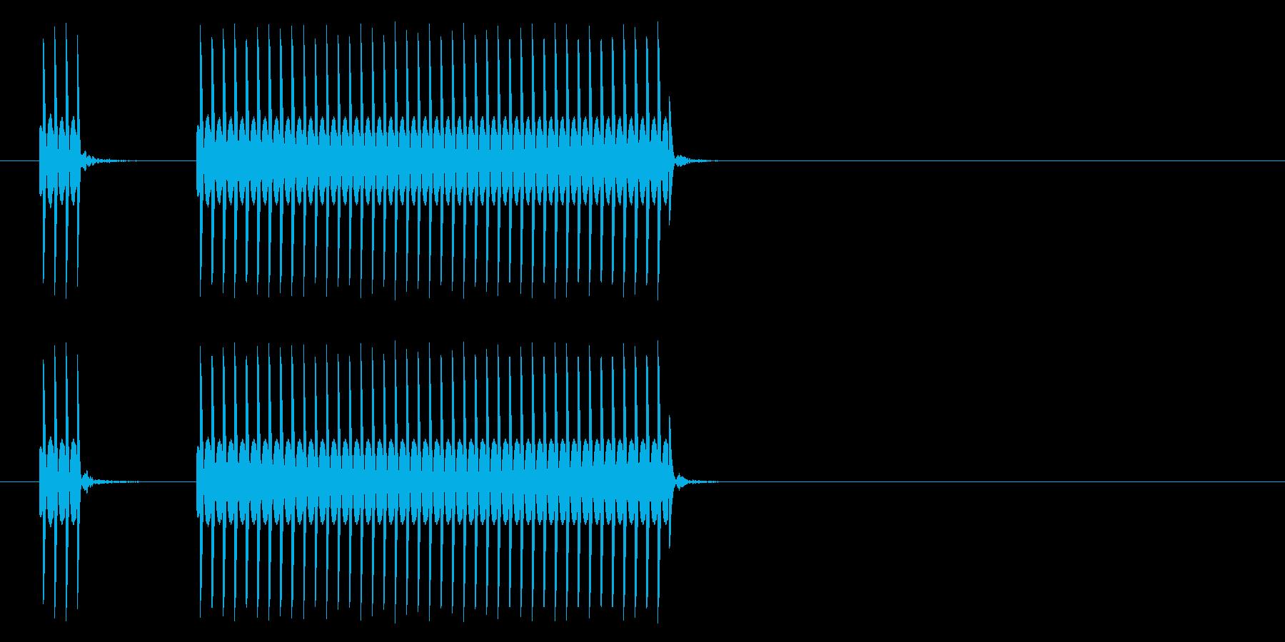クイズ不正解音2/はずれ/ブッブーッの再生済みの波形