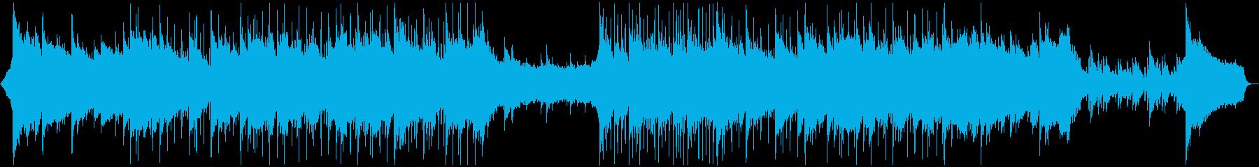 ピアノが優しく前向きなあたたかい曲の再生済みの波形