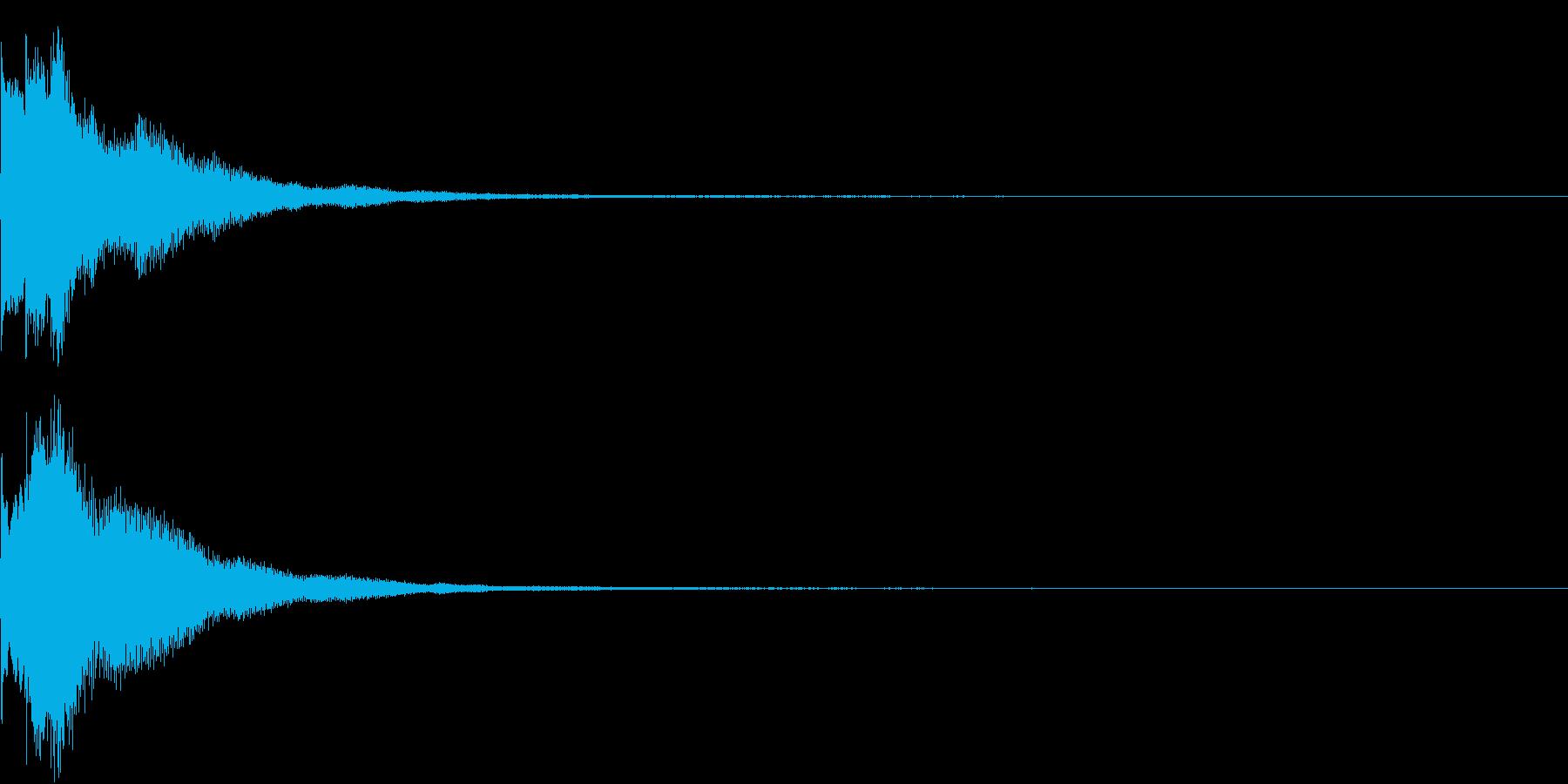 キラリン チャラリン クリック 38の再生済みの波形