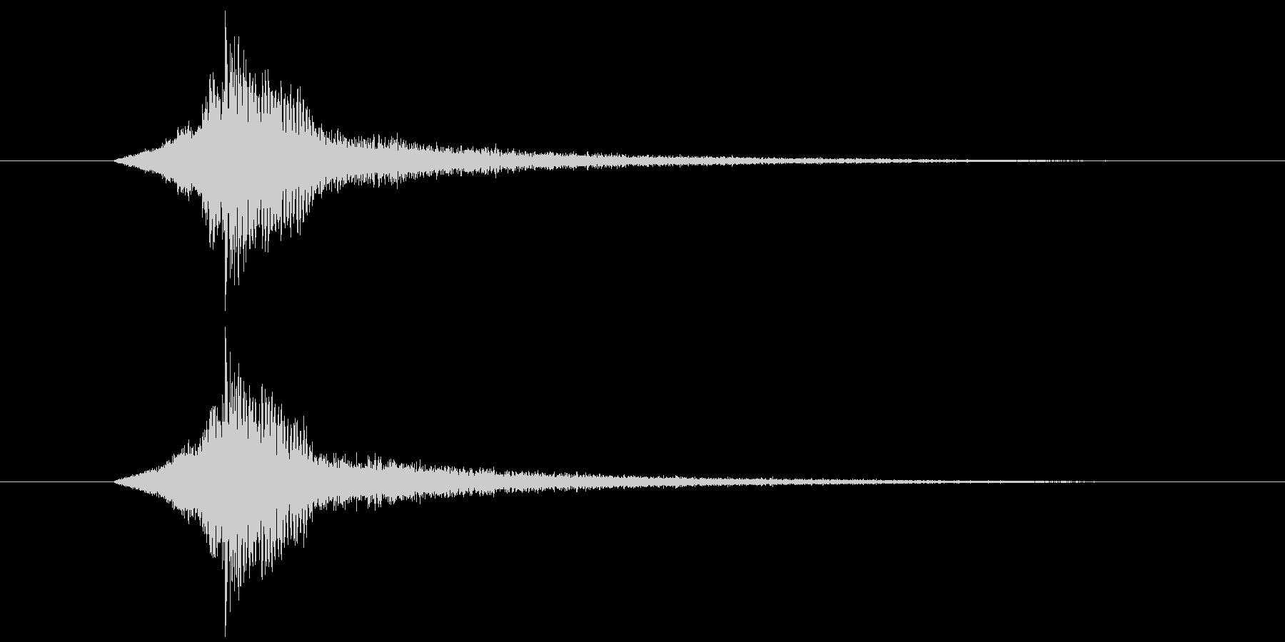 ドーン(予告などのシンプルなインパクト)の未再生の波形