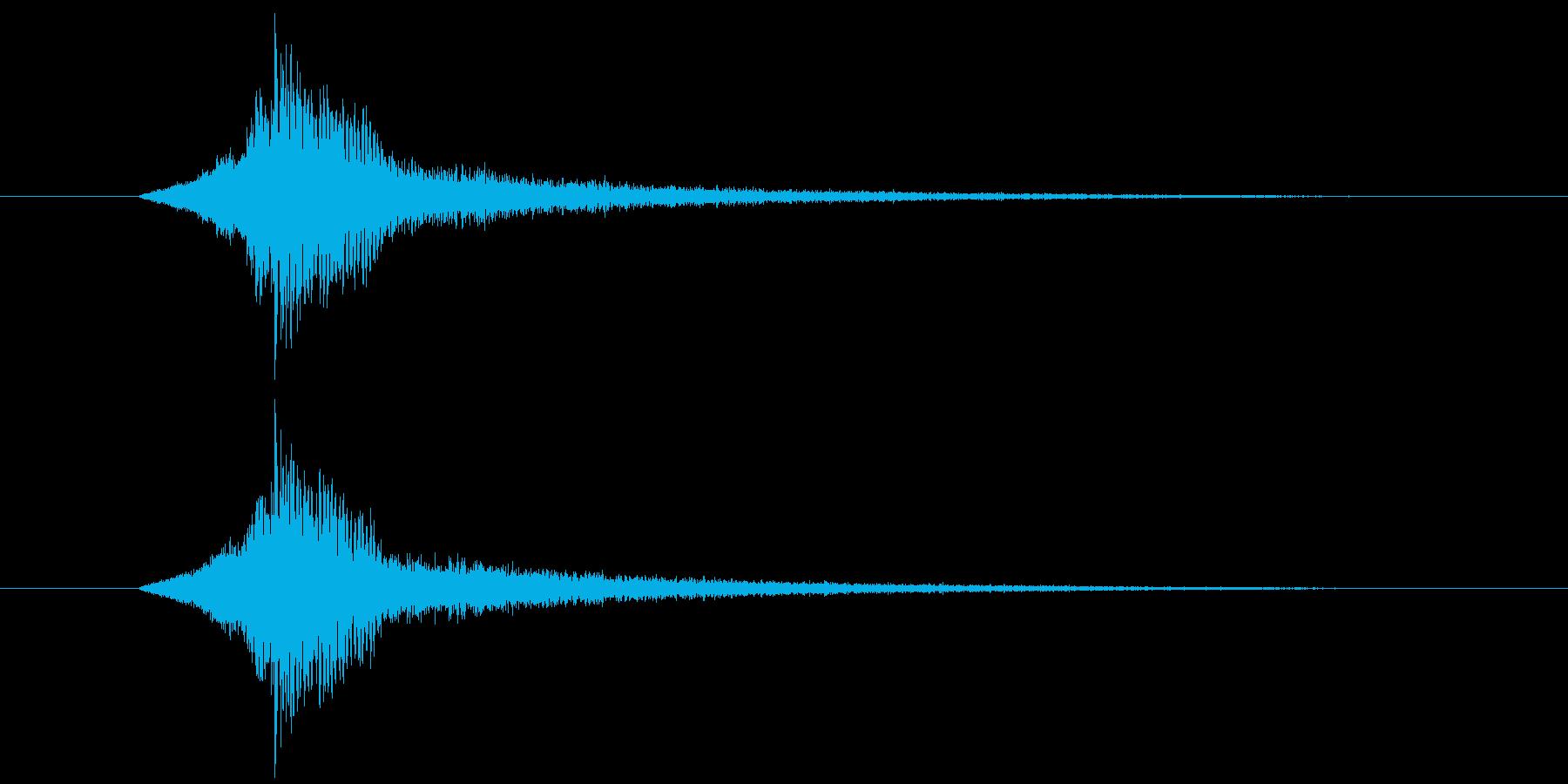 ドーン(予告などのシンプルなインパクト)の再生済みの波形