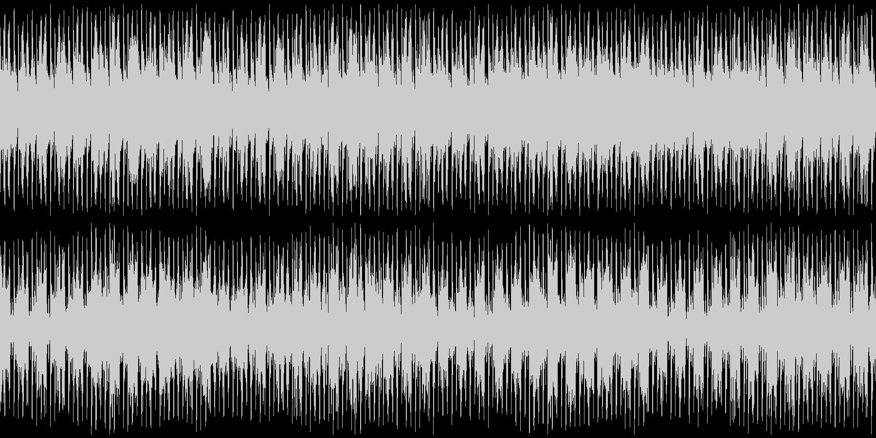 古筝 ・琵琶のファンク風BGMの未再生の波形