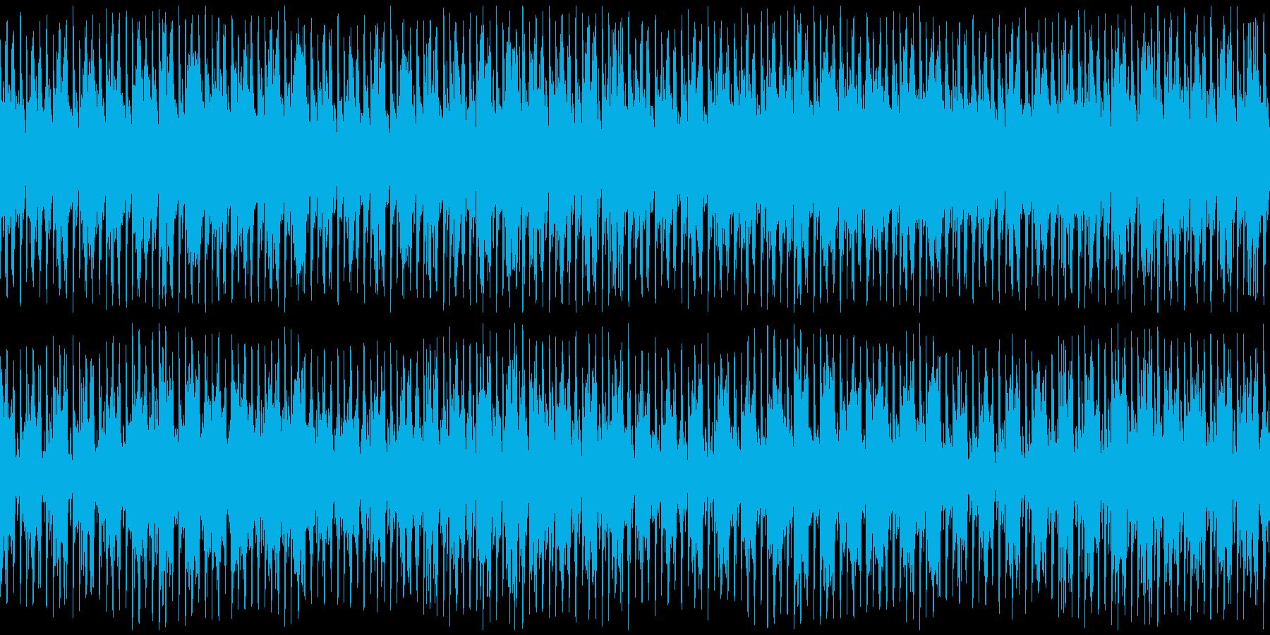 古筝 ・琵琶のファンク風BGMの再生済みの波形