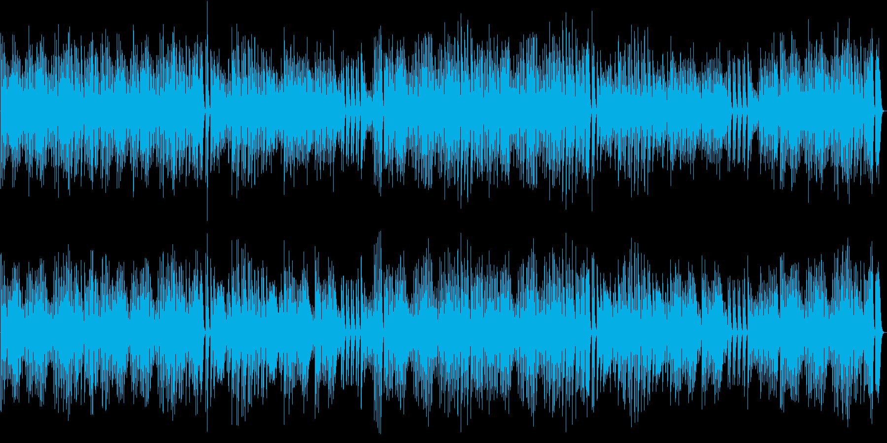 元気でワンパクなワクワクするピアノBGMの再生済みの波形
