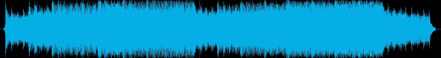 企業VPやプレゼンに、明るいBGMの再生済みの波形