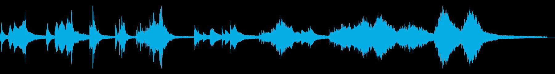 和風のしっとりした雰囲気6-ピアノソロの再生済みの波形