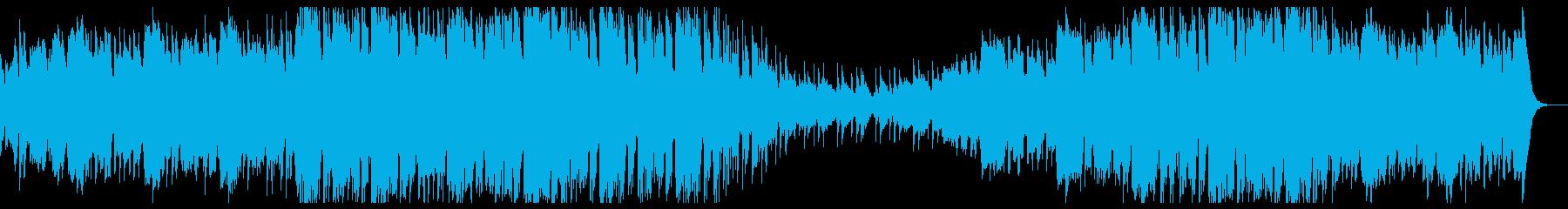 煌びやかな音色でゆったりテンポ感のBGMの再生済みの波形