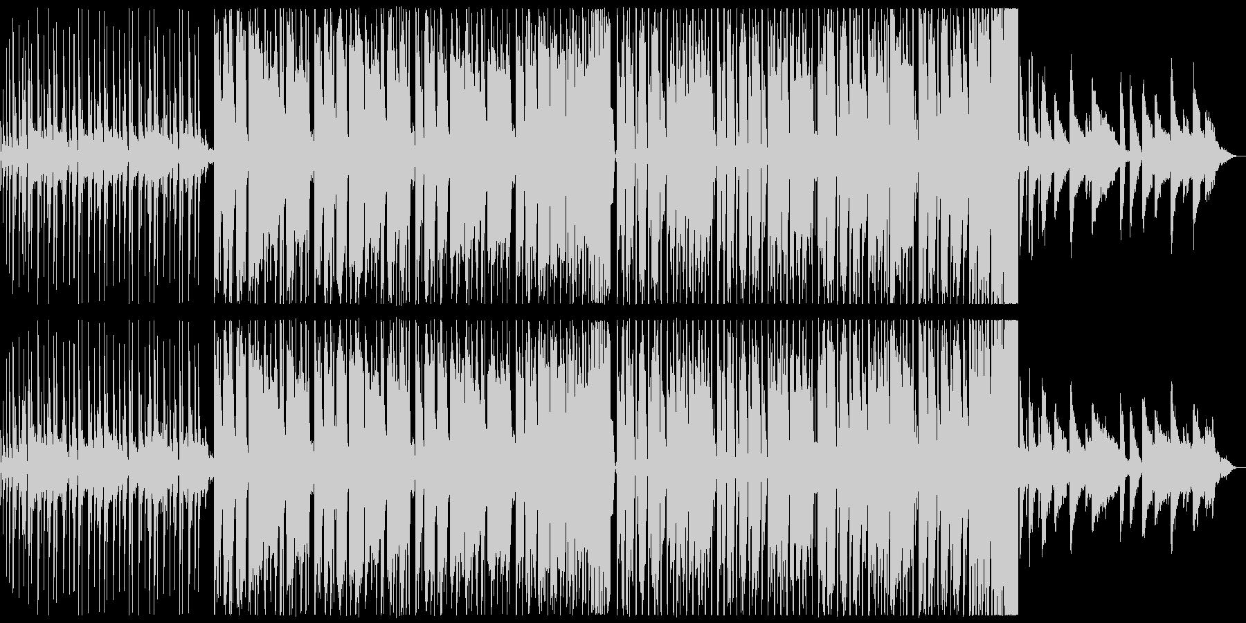 スピード感が可愛いエレクトロポップの未再生の波形