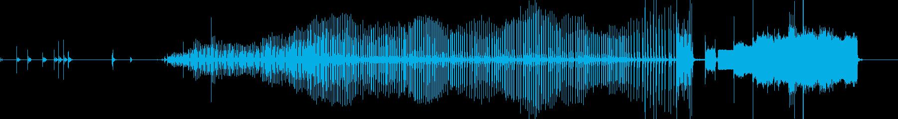FAXマシン、小規模バージョン、送...の再生済みの波形