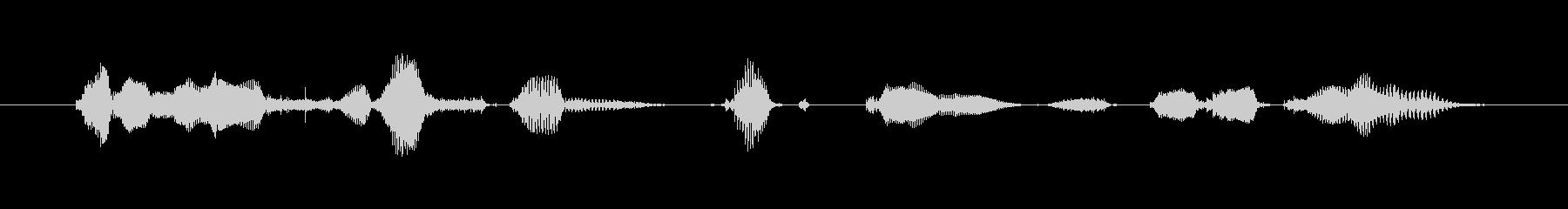 鳴き声 男性祈るラテン10の未再生の波形