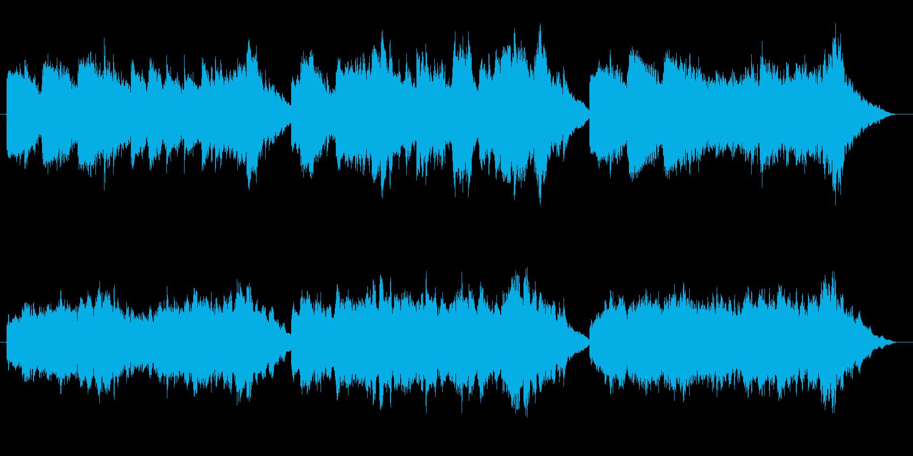 しっとり切ないストリングスBGMの再生済みの波形