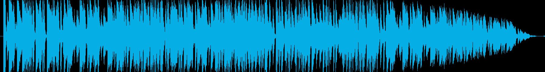 おしゃれで明るいジャズ曲の再生済みの波形