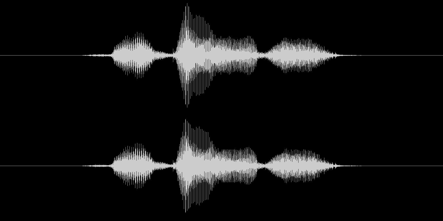 左の未再生の波形