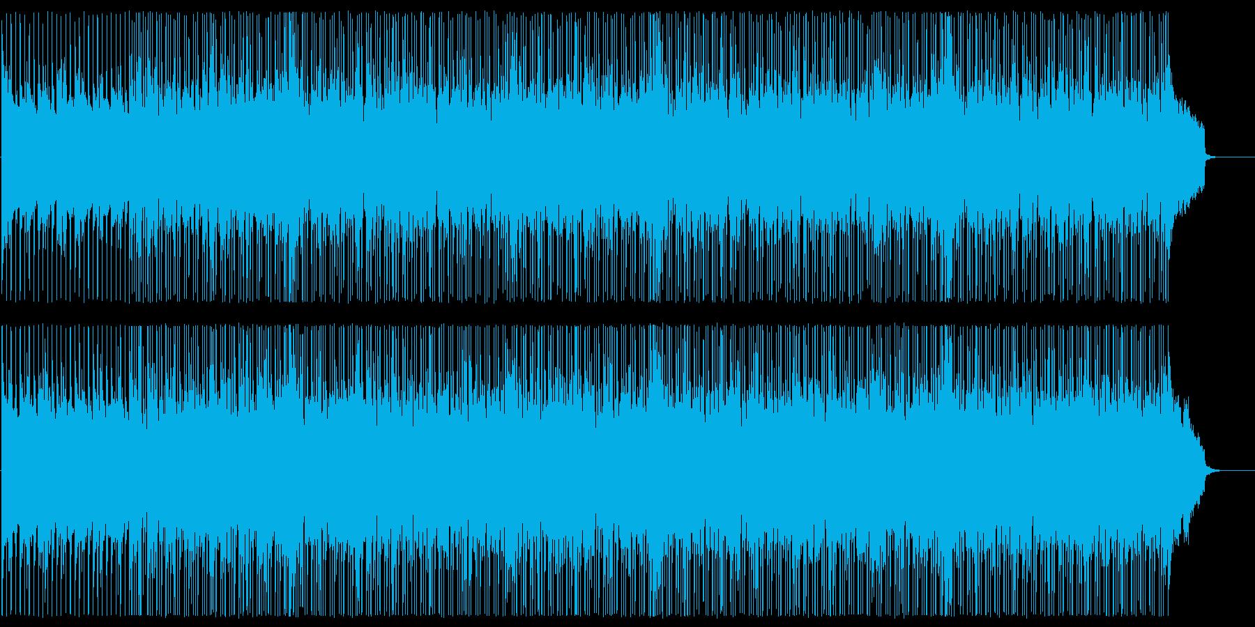 ギターバンドのレトロポップスの再生済みの波形