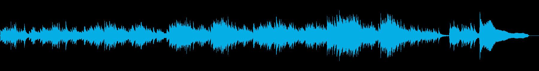 ヒーリング・ソロピアノの叙情的メロディの再生済みの波形