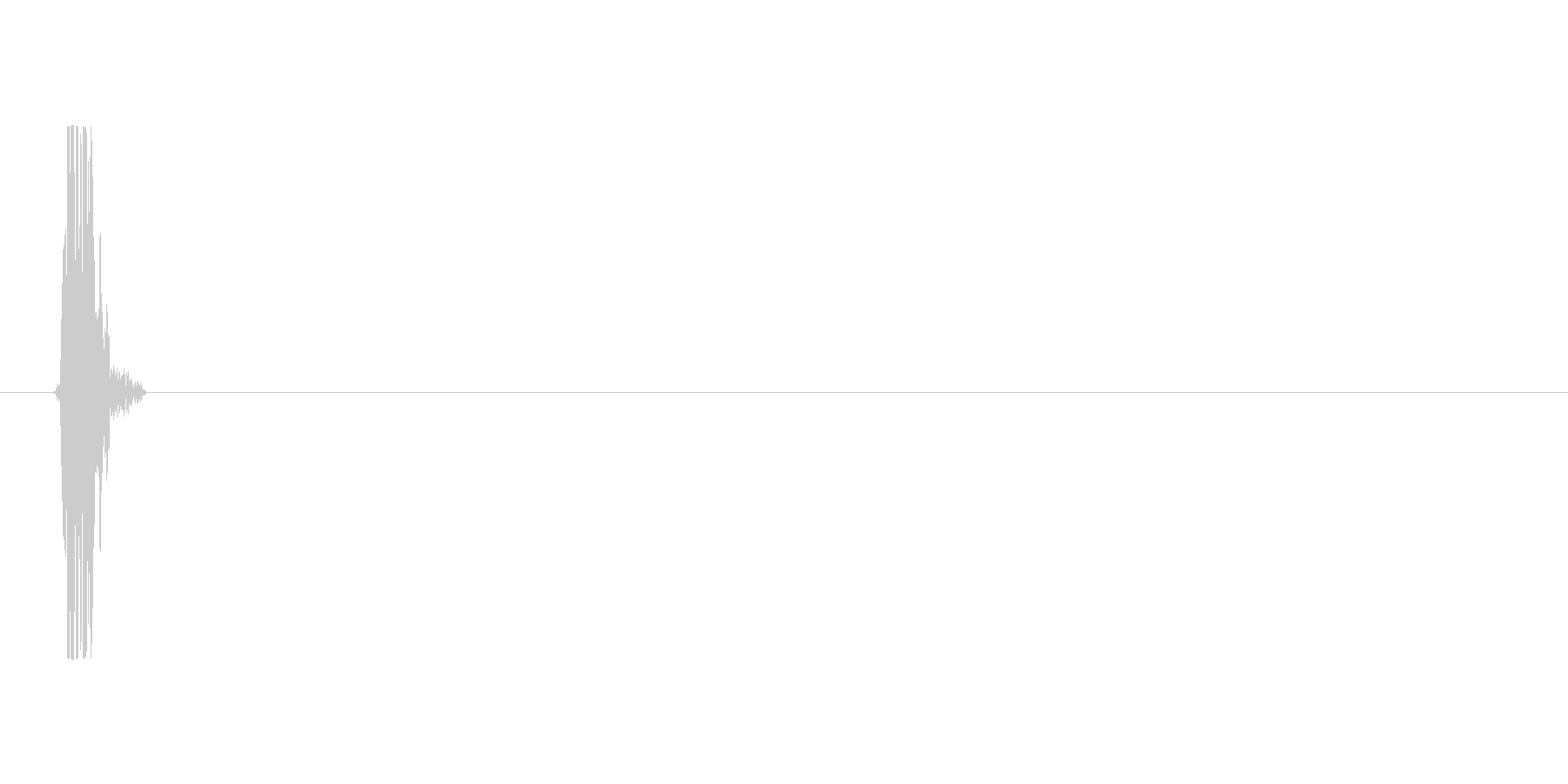 Swish 9、シングル。の未再生の波形