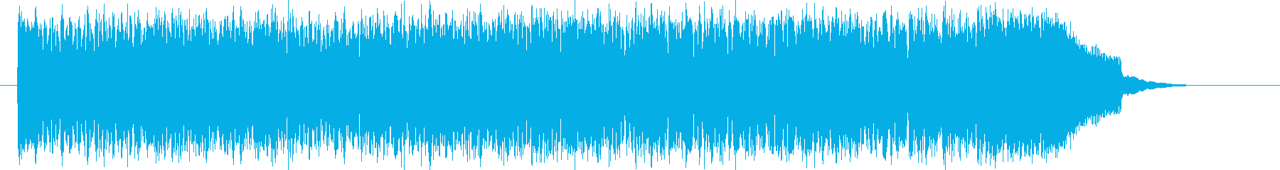Uplifting techno sound's reproduced waveform