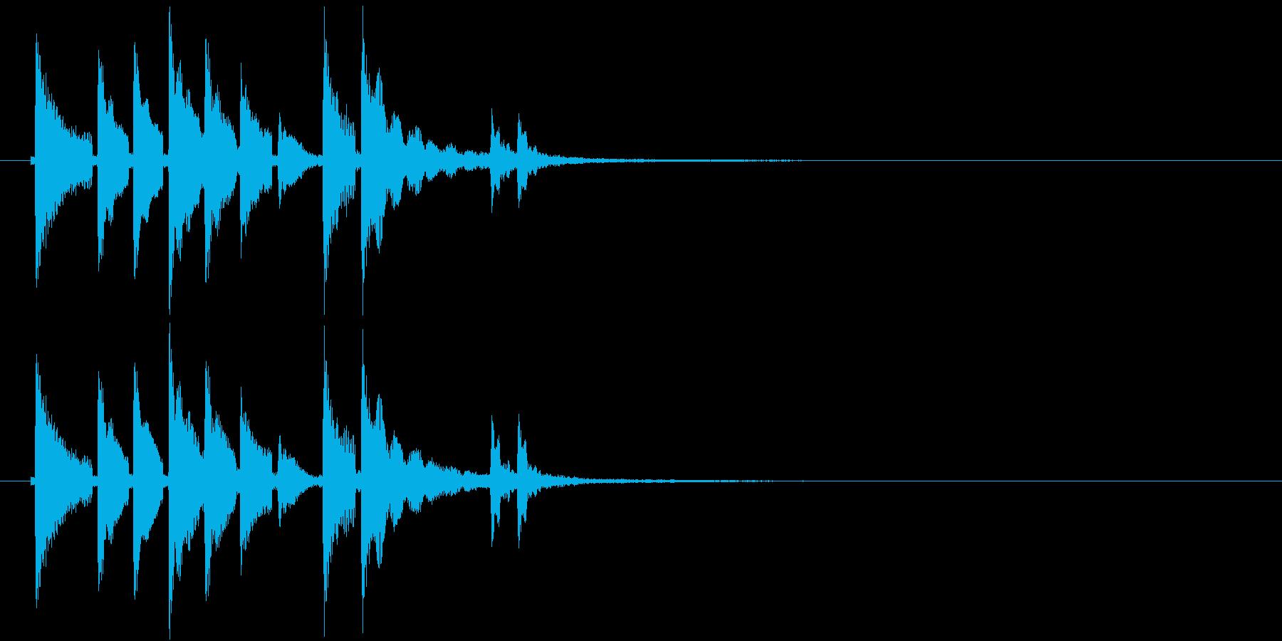 和風ゲーム系ジングルの再生済みの波形