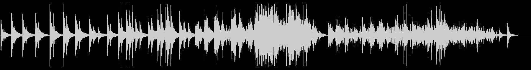 ゆったりとしたピアノに諭されるBGMの未再生の波形