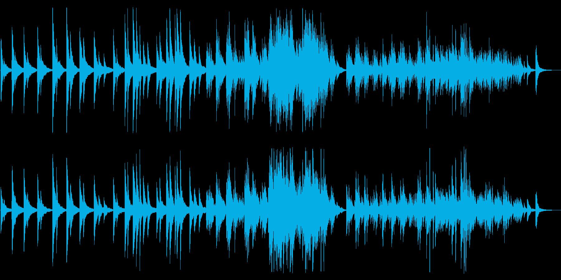 ゆったりとしたピアノに諭されるBGMの再生済みの波形