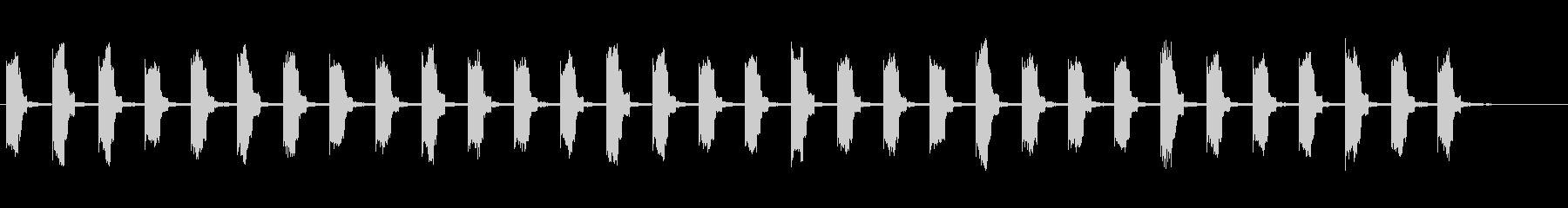 KANT 近未来時計カウント音12の未再生の波形