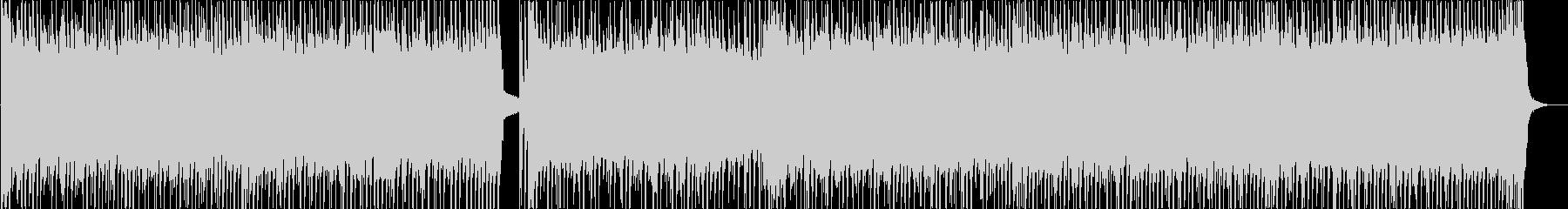 軽快で勢いあるピアノとエレキサウンドの未再生の波形