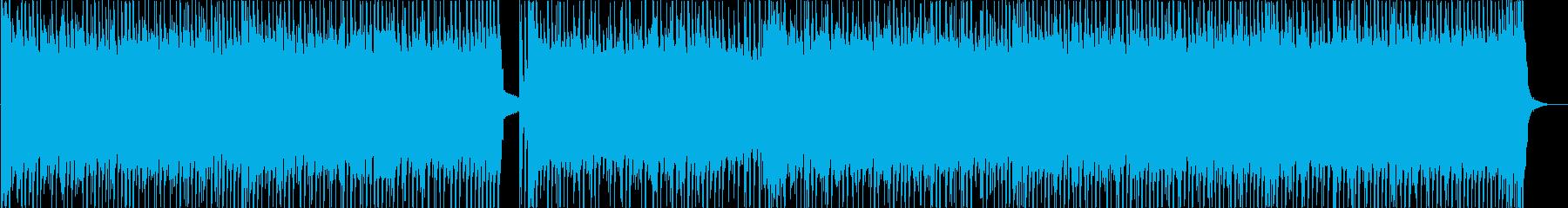 軽快で勢いあるピアノとエレキサウンドの再生済みの波形