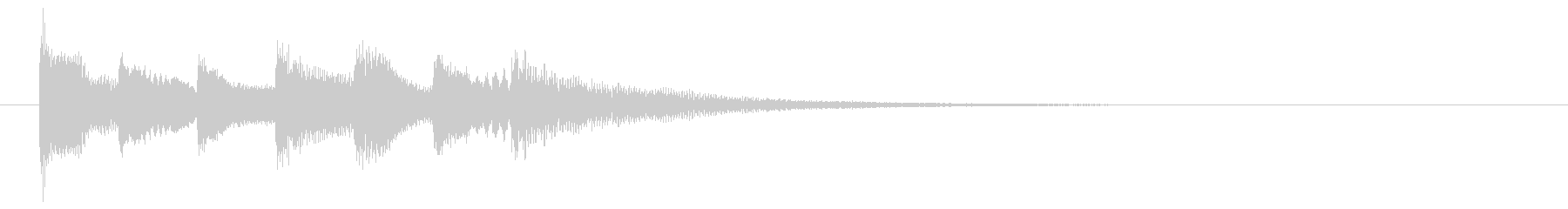不可思議な場面転換音の未再生の波形