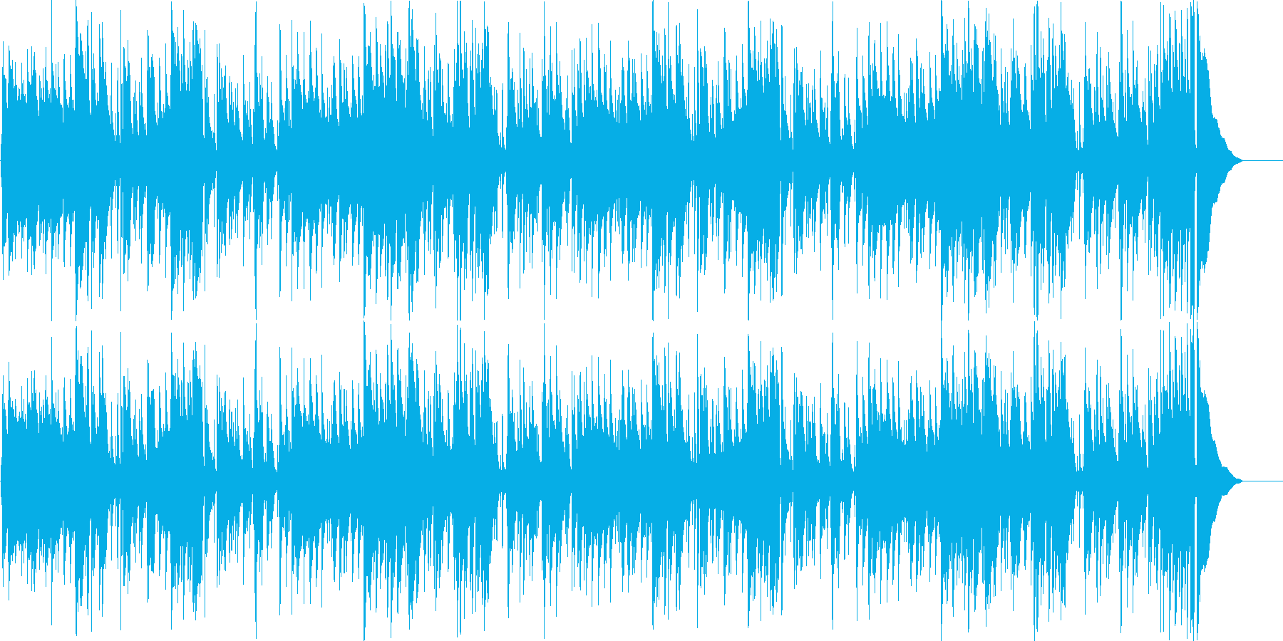 アコギの生演奏ブルース/日常的でほのぼのの再生済みの波形