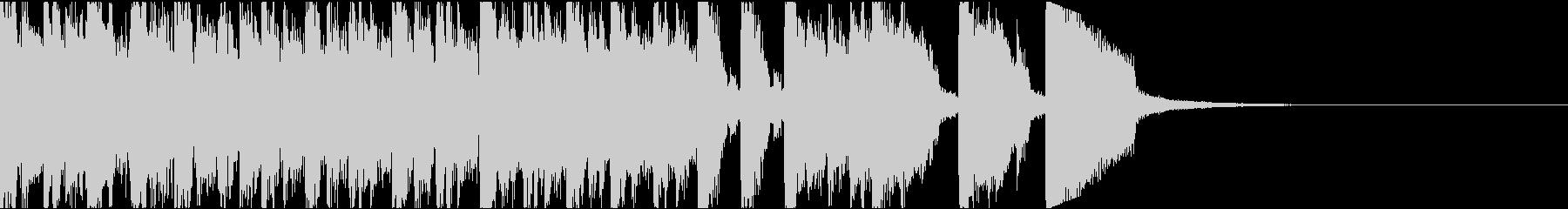 ハイテンション電子音コミカル/ジングルの未再生の波形