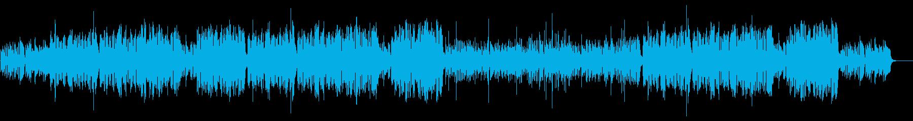冬の楽しげな日常、リズミカルなBGMの再生済みの波形